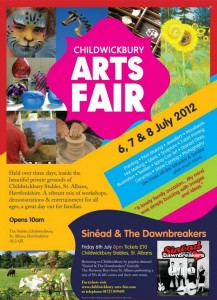 Childwickbury Arts Fair Flyer