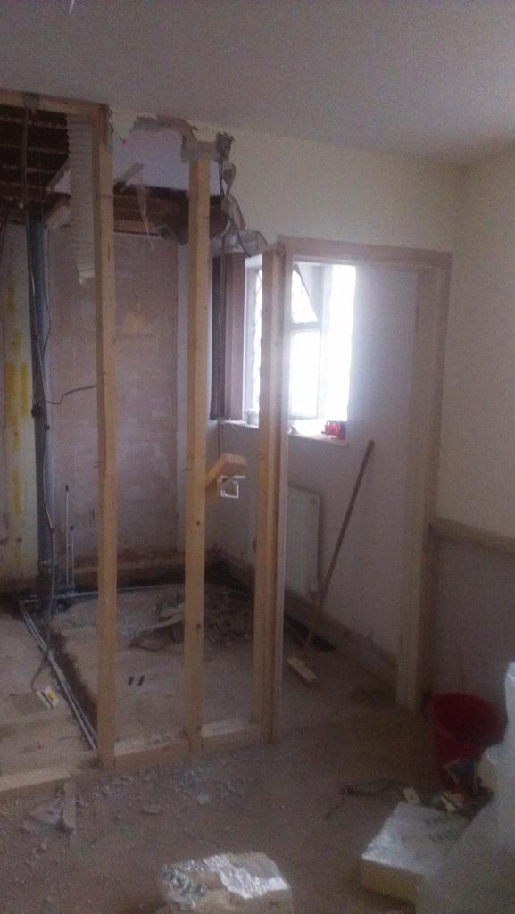 Demolition before the build began - Nov 2012